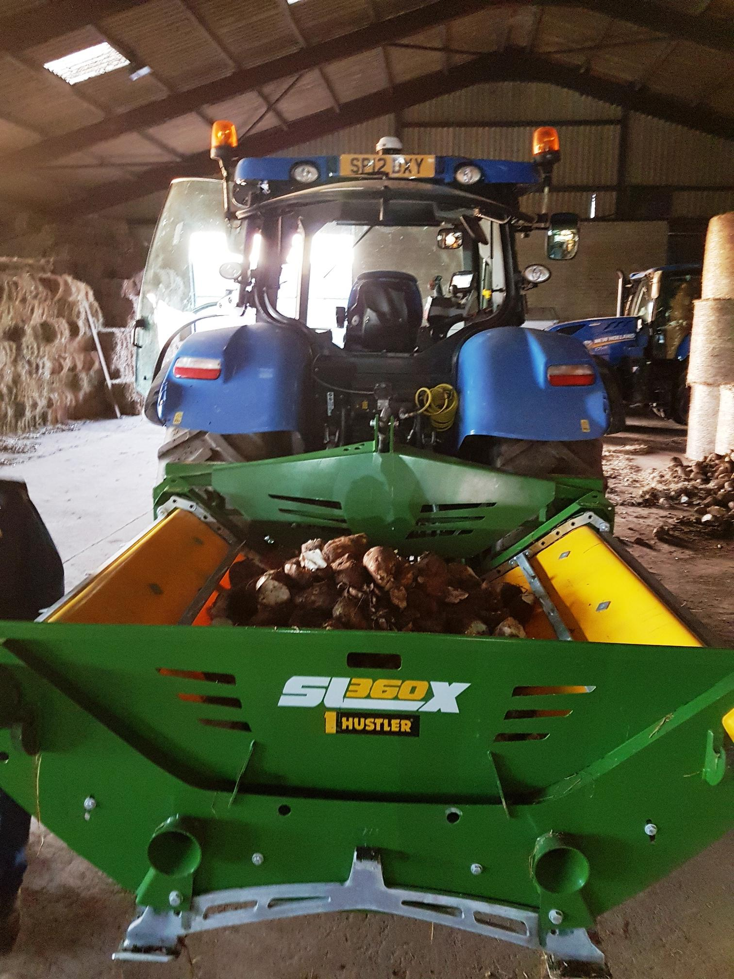 Feeding fodder beet indoors with the Hustler SL360X (2)