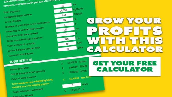 Boom sprayer savings calculator